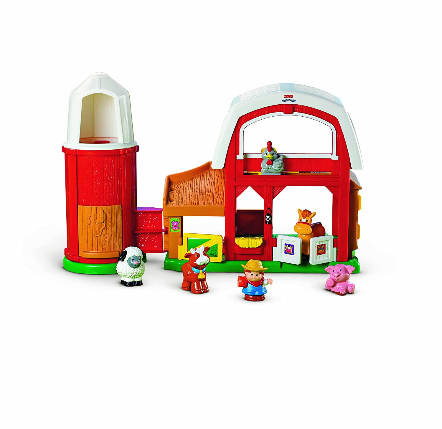 Fisher Price Little People Animal Sounds Farm Amazon Toys