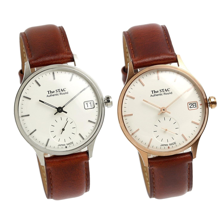 [ザスタック] The STAC ペア売り 日本製 腕時計 ウォッチ Authentic Round 36mm クラシック メンズ レディース B078N12NQR