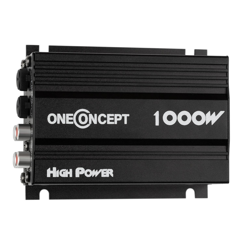 oneConcept A4 /• Car HiFi Verst/ärker /• 4-Kanal Auto-Endstufe /• Car Amplifier /• 4 x 30 Watt RMS-Leistung /• 1000 Watt Peak-Leistung /• Hoch- und Tiefpass-Filter /• Frequenzgang: 20 Hz bis 20 kHz /• br/ückbar /&bull