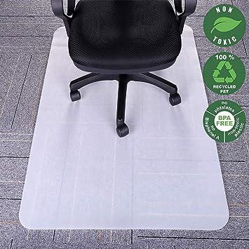 Alfombrilla para silla de oficina, 89 x 119,4 cm, buena policarbonato transparente