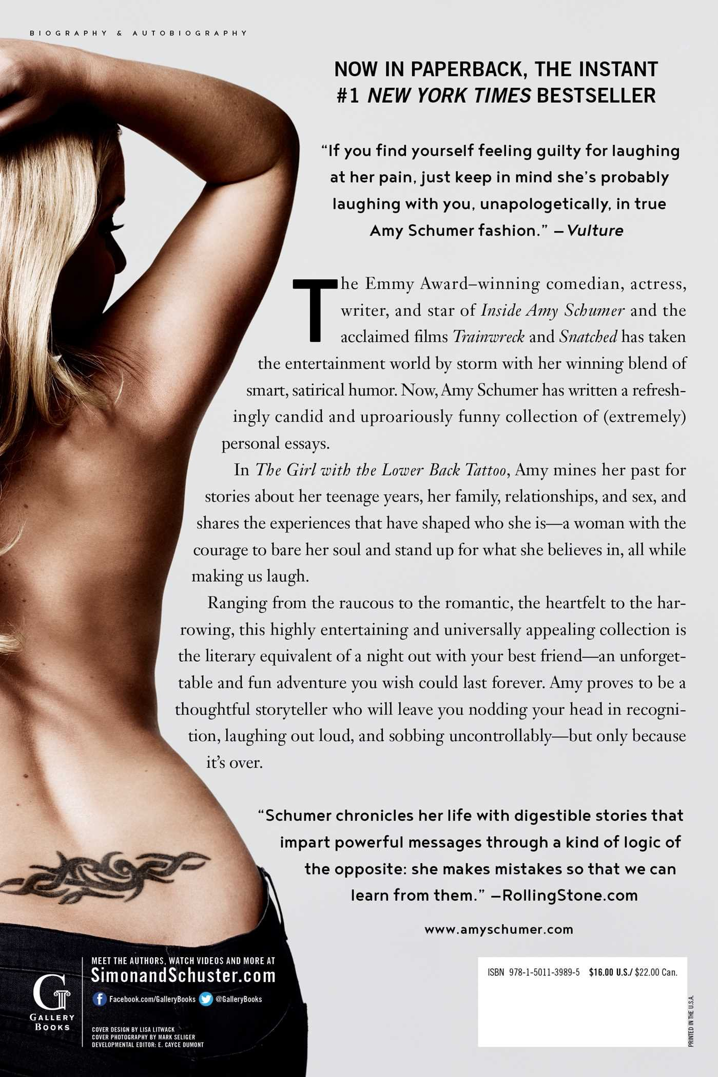 The Girl with the Lower Back Tattoo: Amazon.es: Schumer, Amy ...