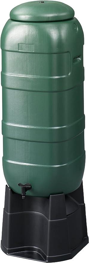 Plastic Rainsaver Water Butt Storage Barrel Tank With Stand,Tap,Lid /& Kit-Green