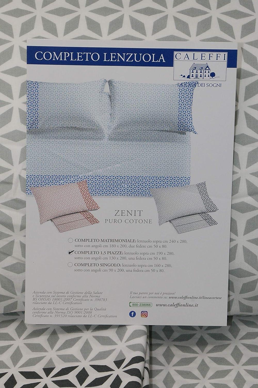 Blu 011 Caleffi Completo Lenzuola Letto Singolo Art Zenit In Puro Cotone Casa E Cucina Set Di Lenzuola E Federe Nsb Group Com