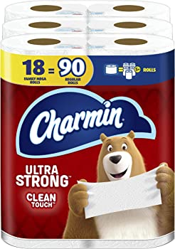 Charmin Ultra Strong Clean Touch Toilet Paper 18 Family Mega Rolls