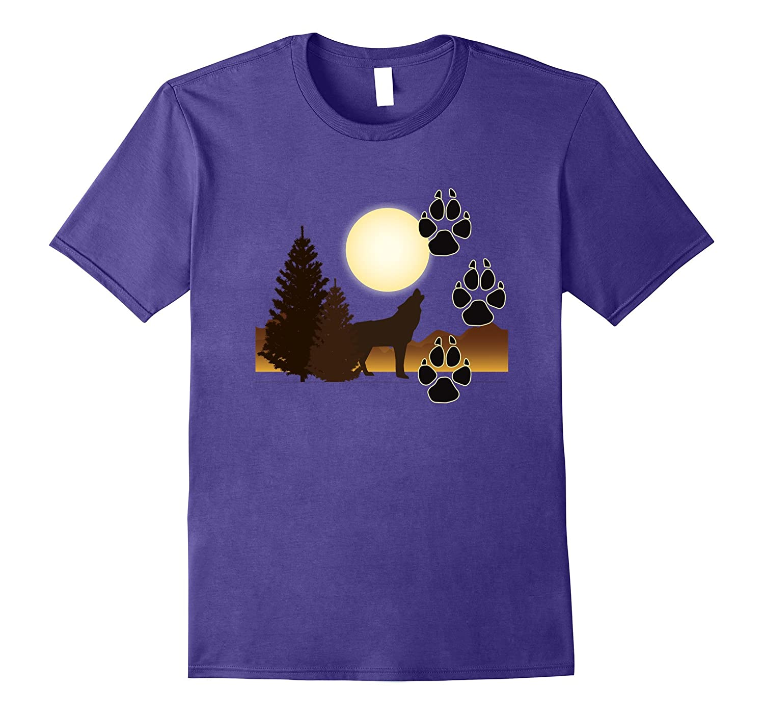Wolf T-shirt Howling Gray Wolf Gift Tee Wolves Icon-TH