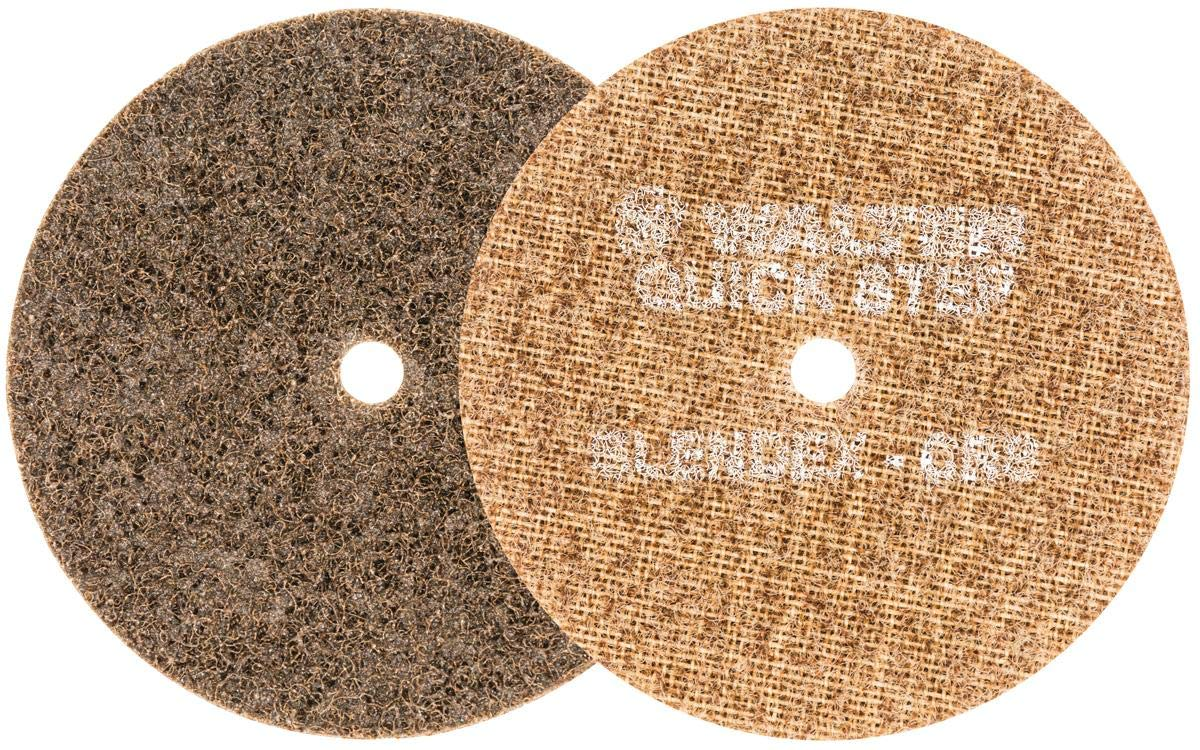 Walter Quick Step Blendex Surface Conditioning Discs - (Pack of 10) Non-Woven, Course Gritted, Tan Abrasive Disc. Metal Finishing Discs