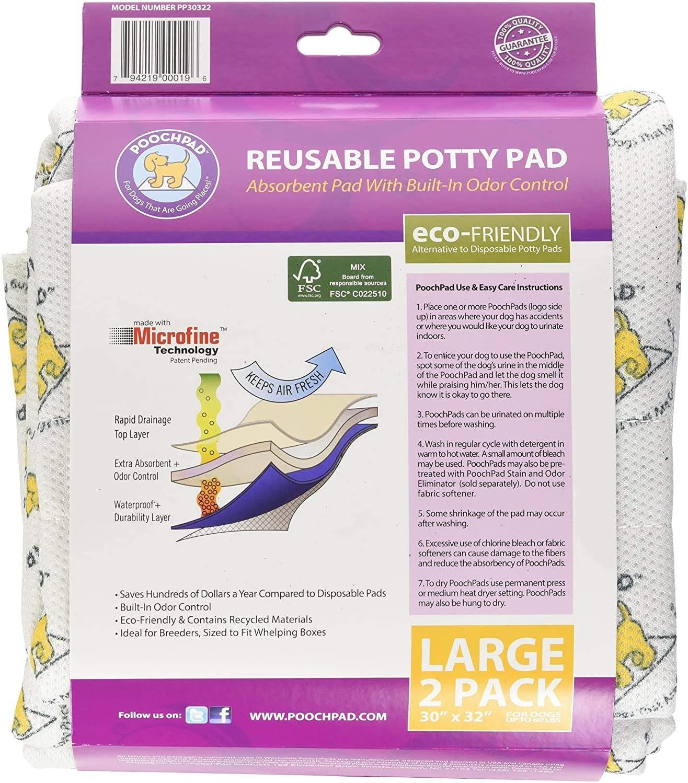 Two 11\u201d Fleece Potty Pads Reversible BUNDLE