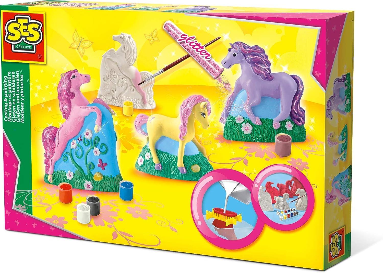 SES Creative Moldear y Pintar Caballos SES, Multicolor (01356)