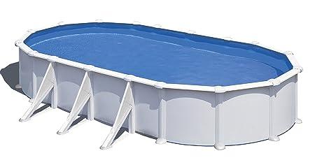 Gre KITPROV738 Atlantis - Piscina Elevada Ovalada, Aspecto Acero Blanco, 730 x 375 x 132 cm: Amazon.es: Deportes y aire libre