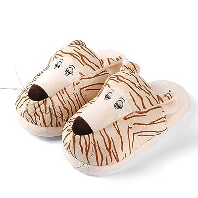 Children's Unisex Cute Animal Super Plush Indoor Bootie Slippers Size 1-3