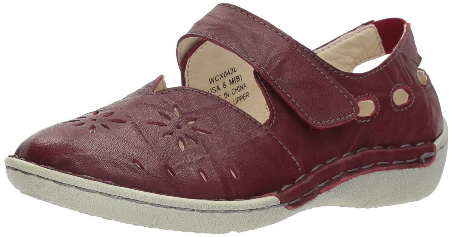 Propet Chloe Mary Jane Flat B073HLMT3V 6 W US|Dark Red