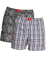 Jockey USA Originals Printed Boxer Shorts - Assorted Pack of 2 (Colors May Vary)