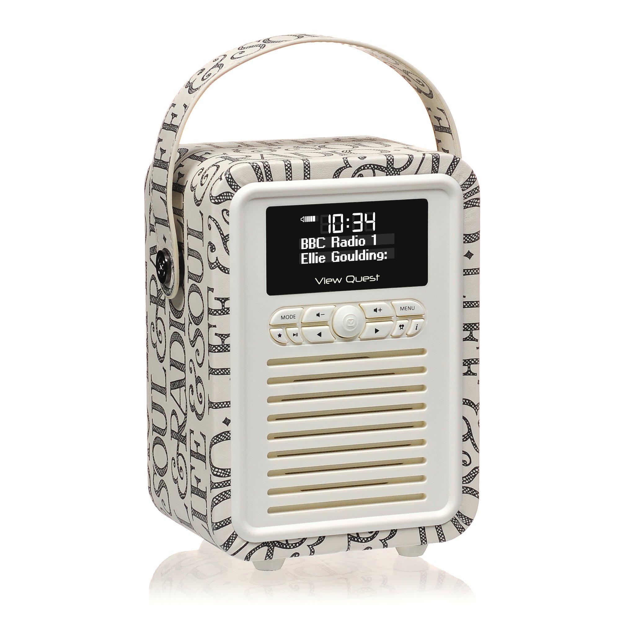 vq retro mini dab dab digital radio with fm bluetooth alarm clock emma ebay. Black Bedroom Furniture Sets. Home Design Ideas