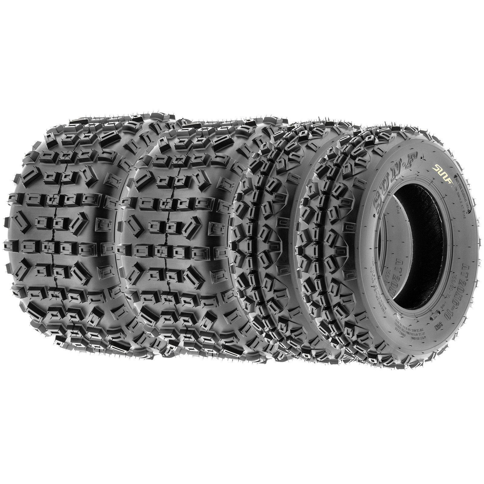 SunF Knobby XC MX ATV Tires 21x6-10 & 20x11-9 6 PR A035 (Full set of 4, Front & Rear) by SunF (Image #10)