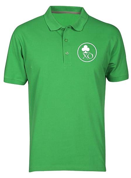 Speed Shirt Polo por Hombre Verde T0609 trifoglio Irlanda ...
