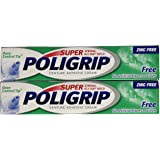 Super Poligrip Denture Adhesive Cream: 2 Packs of 2.4 Oz