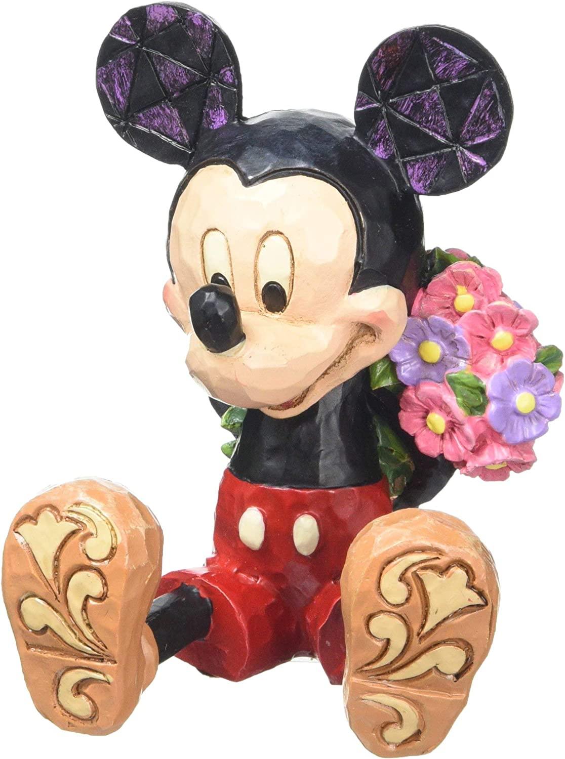 Disney Traditions by Jim Shore Mini Mickey Mouse Personality Pose Stone Resin Figurine, 2.75""