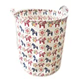 Amazon Price History for:ECOHIP Large Storage Bin Swedish Dala Horse Fabric - Toy Box/ Toy Storage/ Toy Organizer for Boys and Girls - Kids Laundry Basket/ Nursery Hamper