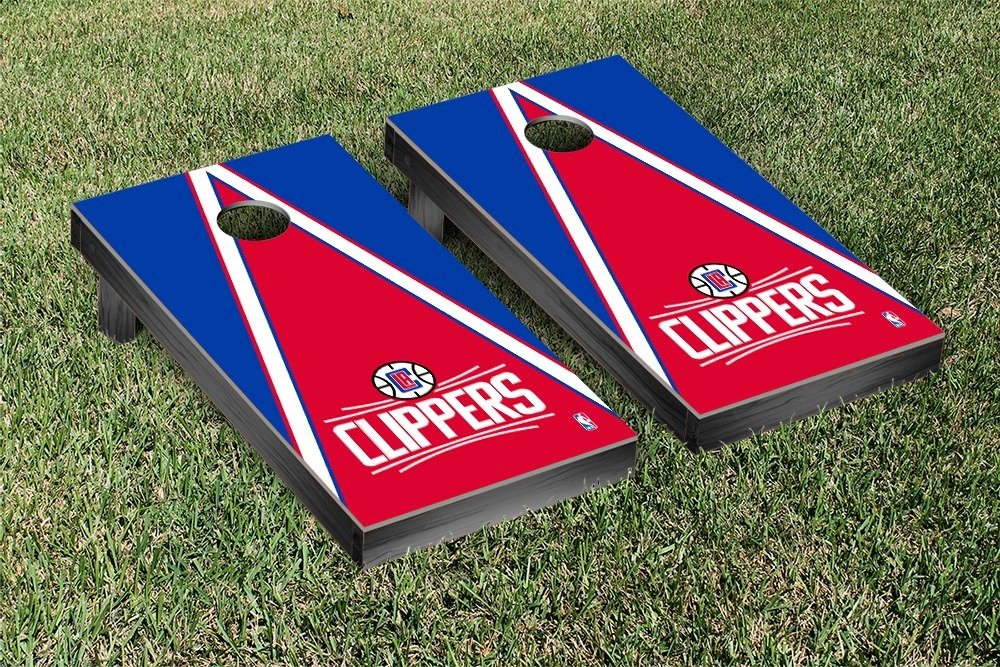 Los Angeles LA Clippers NBA Basketball Cornhole Game Set Triangle Version by Victory Tailgate