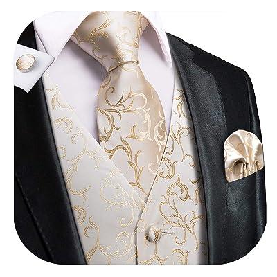 Men/'s Ties Mens Wedding Ties Camel Brown Wool Necktie and Floral Pocket Square