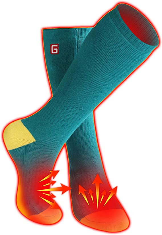 Heated Socks Battery Powered Electric Winter Heat Thermal Warm Unisex Foot H2I5