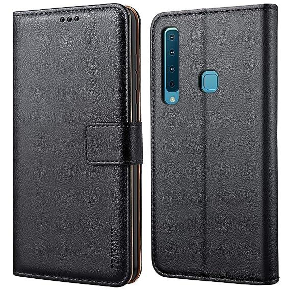 Peakally Funda Samsung Galaxy A9 2018, Premium Cuero Fundas para Samsung Galaxy A9 2018 [Stand Function] [Ranuras para Tarjetas] Piel PU Carcasa Case con ...