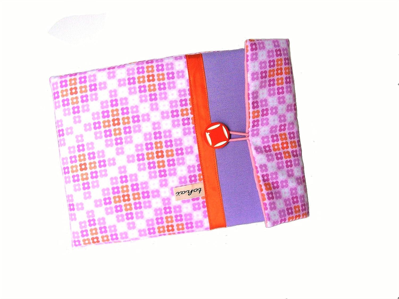 housse pour ipad mini mauve et rose style scandinave, pochette pour tablette 8 pouces et toile et tissu graphique , etui ipad mini , cadeau pour elle