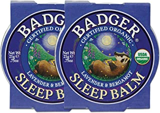 product image for Badger - Sleep Balm, Lavender & Bergamot, Natural Sleep Balm, Scented Relaxing Balm for Children and Adults, Calming Night Balm, Organic Sleep Balm, 0.75 oz (2 Pack)