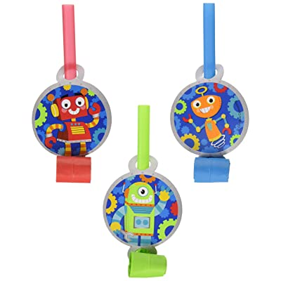 Creative Converting 332230 Robots Science Fair Birthday Party Tableware Decorations Supplies, One Size, Multicolor: Toys & Games