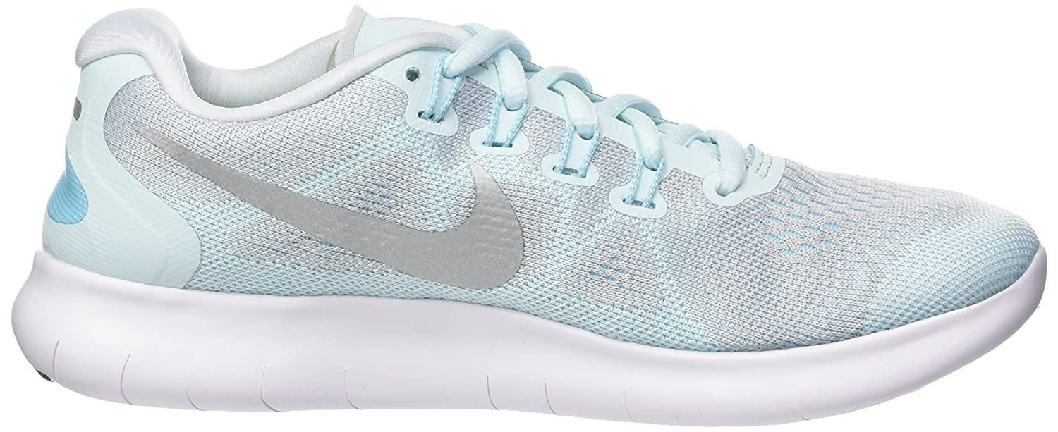 NIKE Women's Free RN 2017 Running Shoe B06X6JJ4RS 7.5 B(M) US|Glacier Blue/Metallic Silver