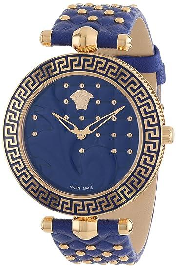 Versace VK7040013 - Reloj de Pulsera Mujer, Color Azul