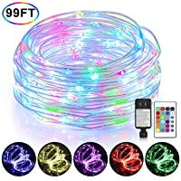 Amazon.com deals on Mlambert Color Changing Fairy String Lights 99-ft w/300 LEDs