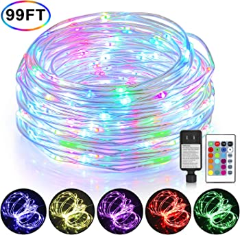 Mlambert 99Ft LED Rope Outdoor Lights