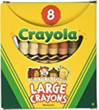 Crayola Binney & Smith (R) Multicultural Large Crayons, Assorted Specialty Colors, Box Of 8