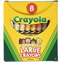 Crayola Large Washable Crayons-Multicultural 8/Pkg