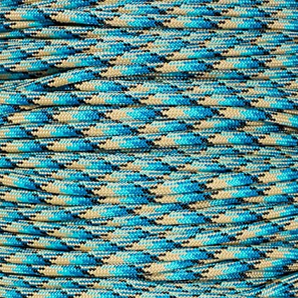 Paracord Planet 550 Cord Type III 7 Strand Paracord 100 Foot Hank Salmon