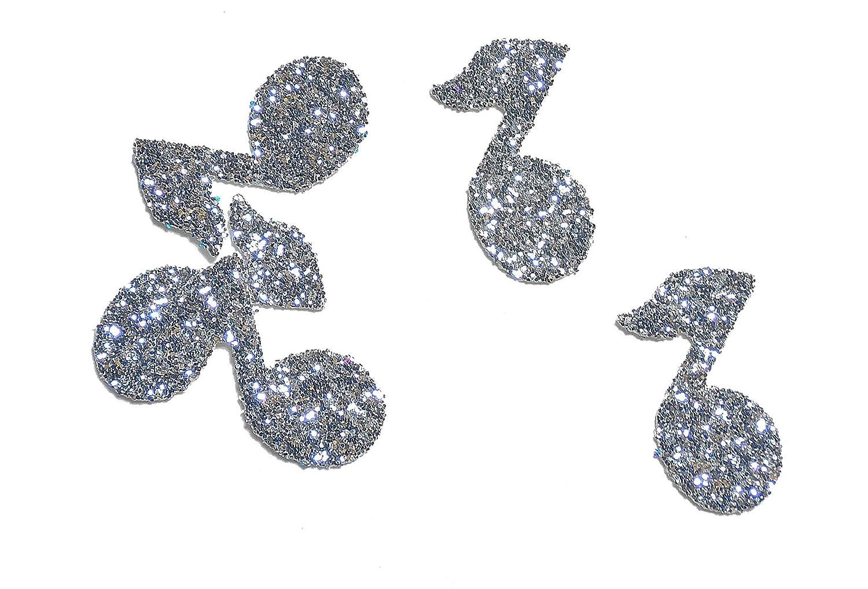 Musiknote Konfetti Silber glitter (handgemacht Konfetti)