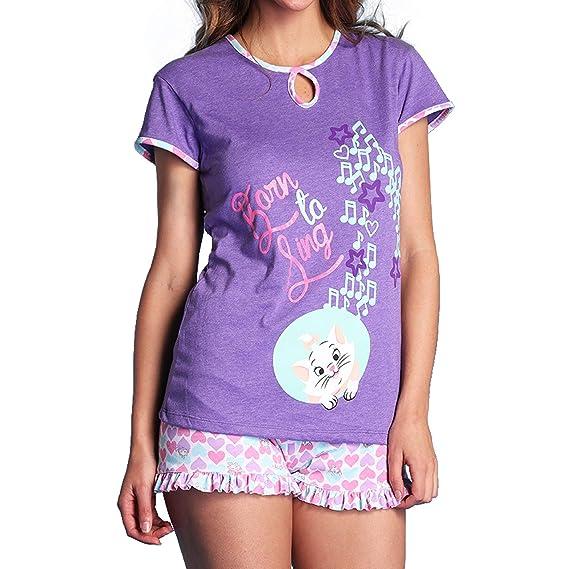 db5323a0f150 Panty Luk 8065 Pijama para Mujer Disney Marie Blusa Y Short Dama