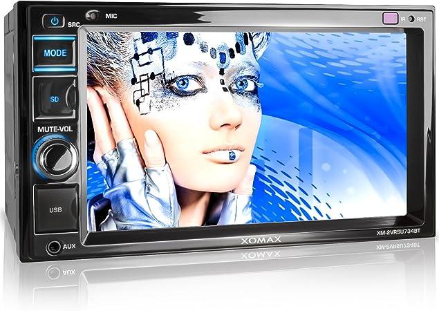 Xomax Xm 2vrsu734bt Autoradio Moniceiver Mit Bluetooth Freisprechfunktion Musikwiedergabe 6 2 Zoll 16 Cm