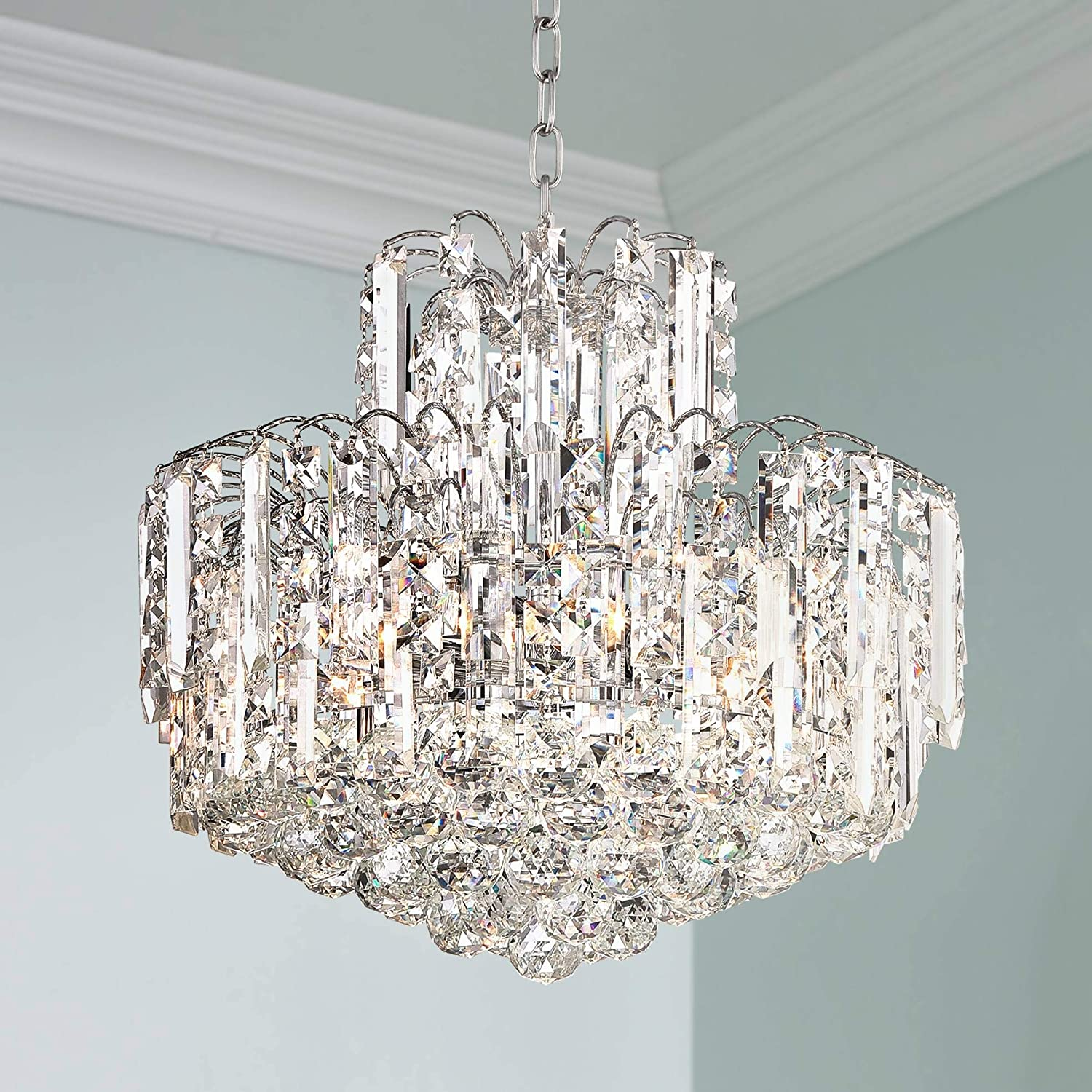 Leya 19 Wide Chrome and Crystal 6-Light Chandelier – Vienna Full Spectrum