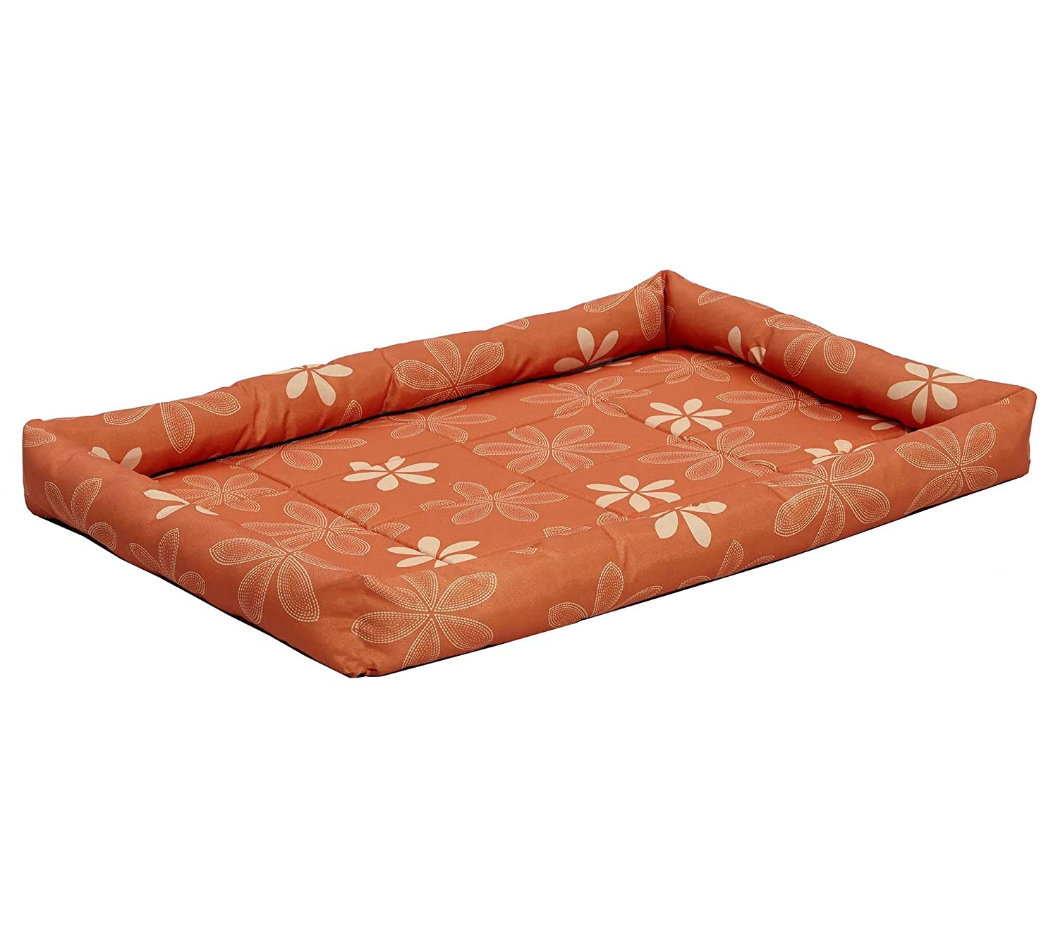 Midwest Home for Pets 40236TFO Paradise Floral with Teflon Fabric Predector, 36Inch, orange
