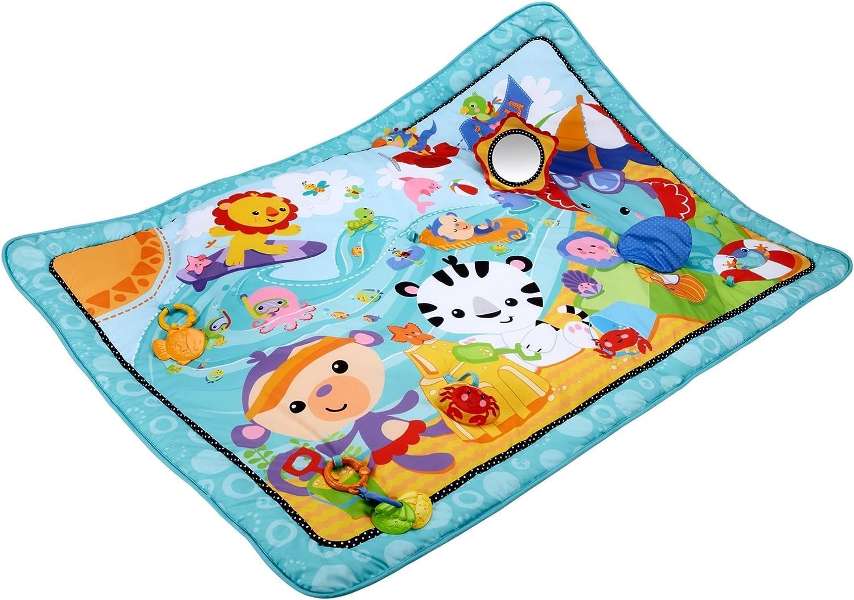 Fisher-Price Supermanta de juego, manta de actividades para bebé (Mattel CBJ65)