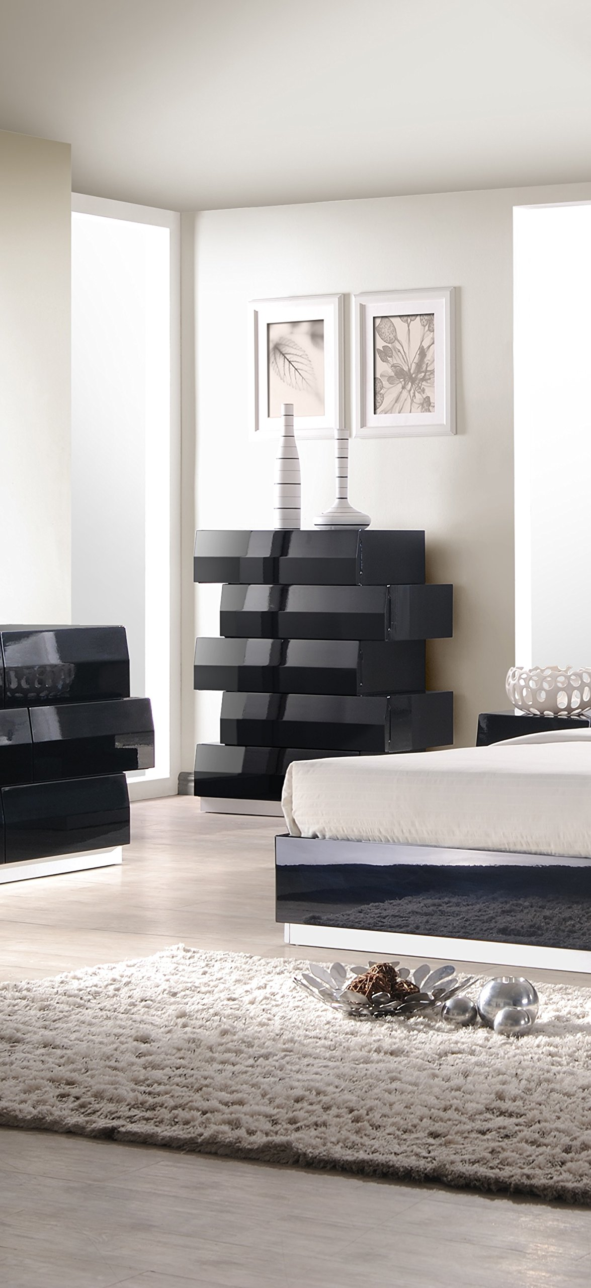 J and M Furniture Milan Chest in Black by J&M Furniture
