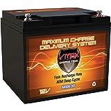 "VMAX MR86-50 12 Volt 50Ah AGM Deep Cycle Sealed Lead Acid Battery ( 7.8""L x 6.6""W x 6.7""H)"