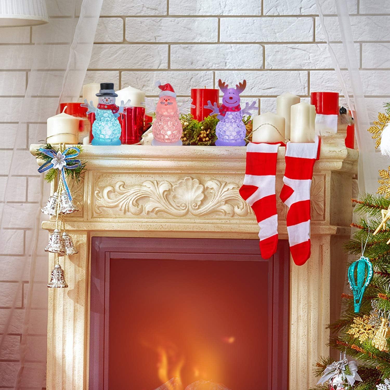 Transpac Imports D1920 Glass Christmas Santa Night Light Decor Red