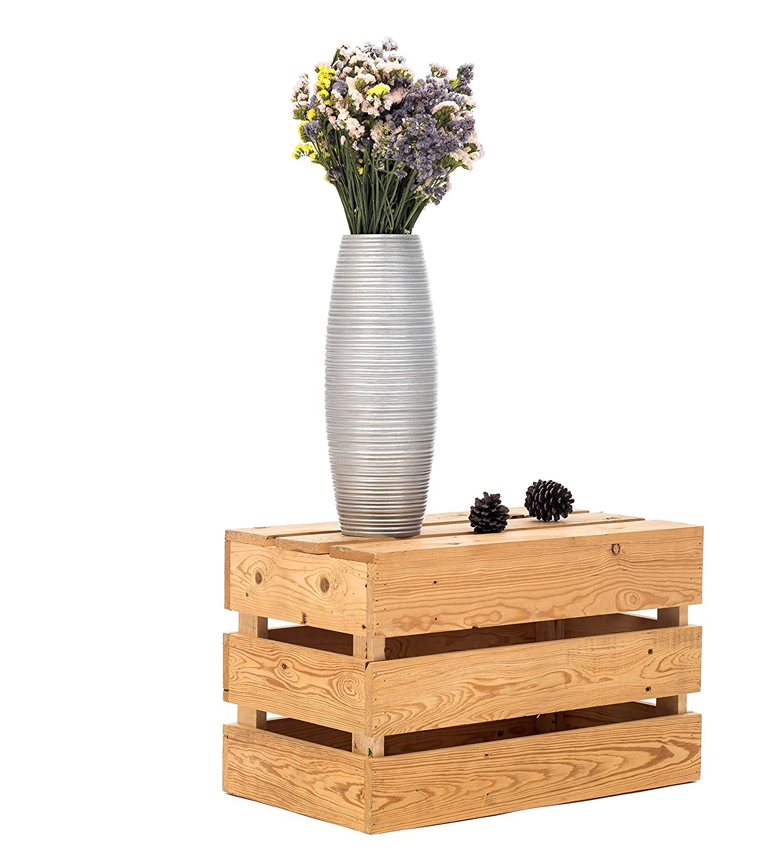 Bois du manguier Argentin 41 cm Leewadee Petit Vase A Poser Au Sol pour Branches D/écoratives Centre De Table Vase pour La D/écoration De La Maison