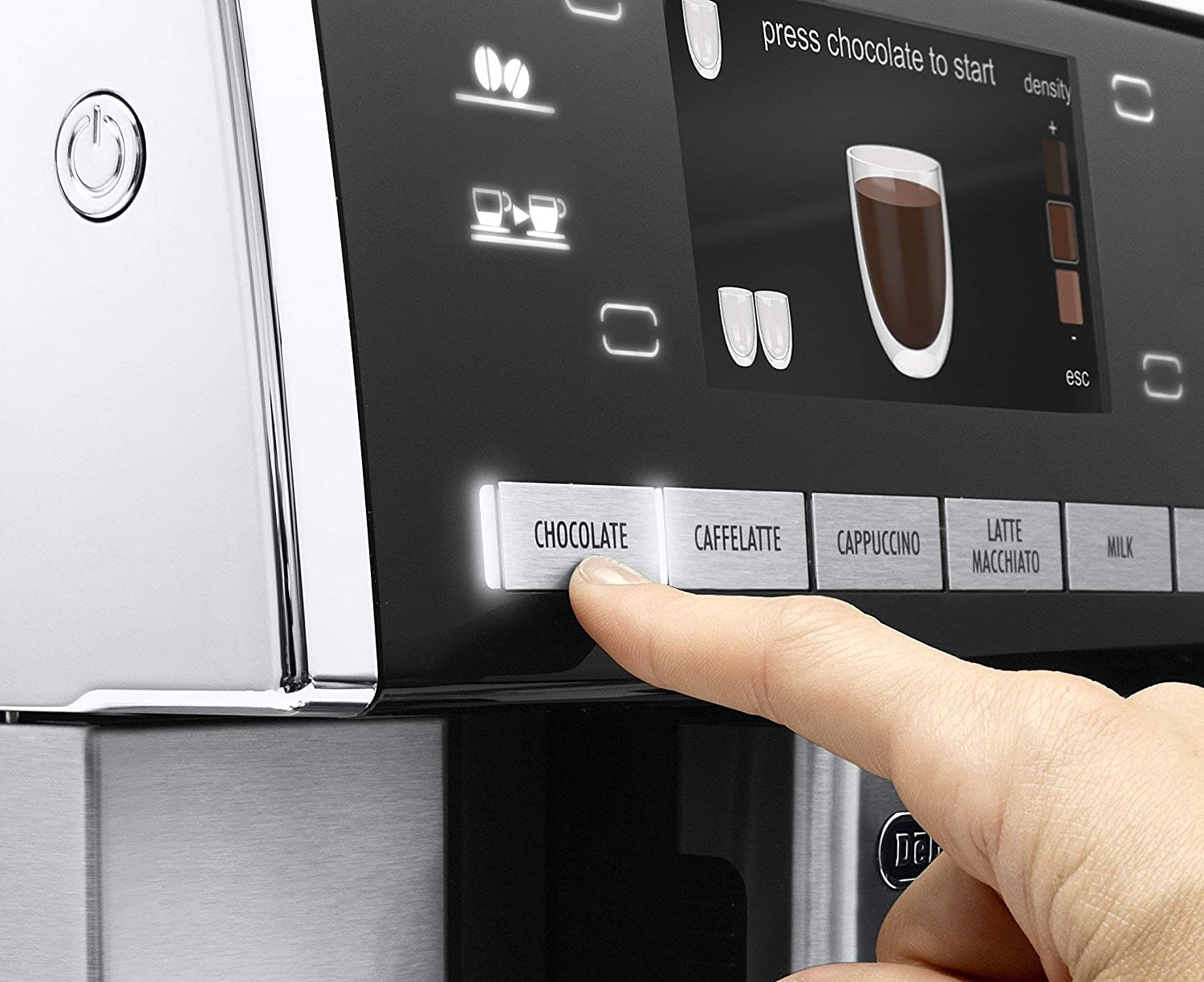 DeLonghi ESAM 6900.M Delonghi ESAM6900 Prima Donna Exclusive Fully Automatic Espresso Maker with Lattecrema System Stainless Steel Renewed