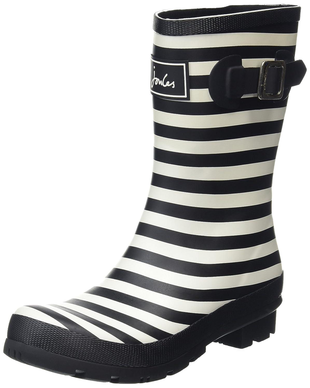 Joules Women's Molly Welly Rain Boot B01FAO3ISQ 7 B(M) US|Black (Blkstrp)