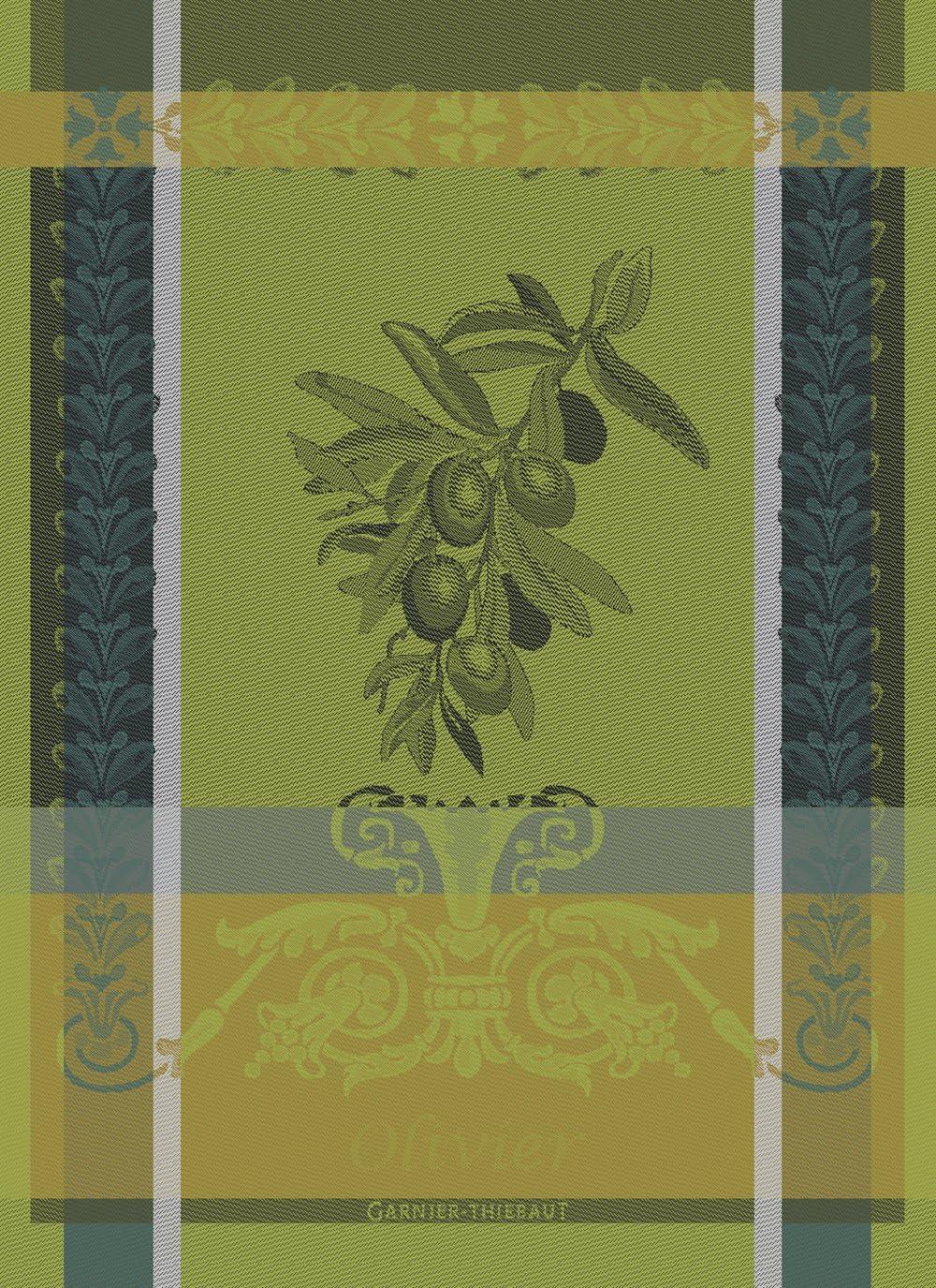 Cotone 56/x 77/cm Garnier Thiebaut canovaccio Verde diesig