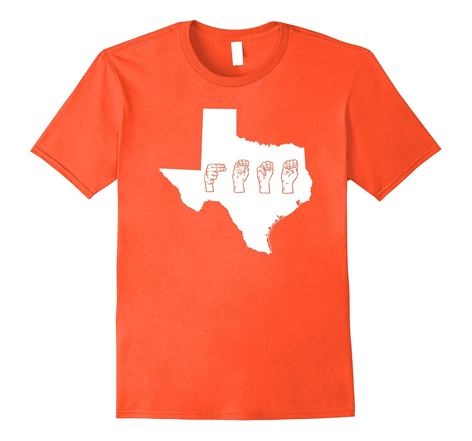 d036d7373c Texas Home state ASL sign language fingerspelling tshirt-ANZ ...